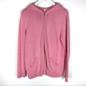 J. Crew 100% cotton full zip hoodie sweater